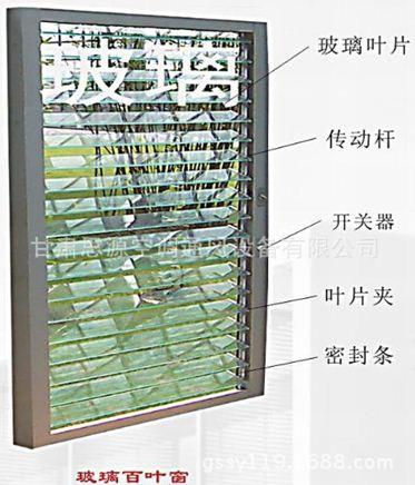 玻璃百叶系统,装饰与自然风景的完美结合,玻璃百叶的开启的角度可以